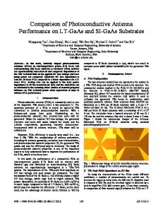 Comparison of Photoconductive Antenna Performance ... - IEEE Xplore