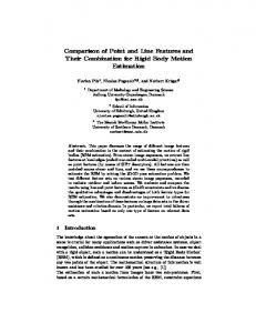 Comparison of Point and Line Features and Their ... - Semantic Scholar
