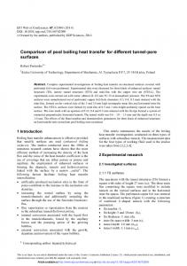 Comparison of pool boiling heat transfer for different tunnel-pore ...