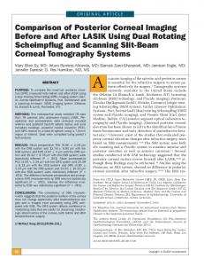 Comparison of Posterior Corneal Imaging Before and After LASIK ...