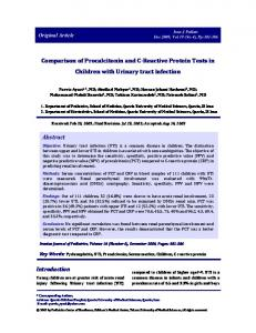 Comparison of Procalcitonin and C-Reactive Protein Tests in Children ...