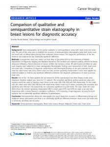 Comparison of qualitative and semiquantitative strain ... - Springer Link