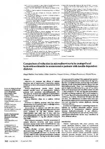 Comparison of reduction in microalbuminuria by enalapril and ...
