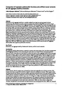 Comparison of regression pedotransfer functions and artificial neural ...
