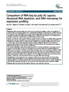 Comparison of RNA-Seq by poly (A) capture, ribosomal RNA ...