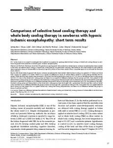 Comparison of selective head cooling therapy and whole body cooling ...