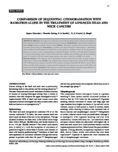 comparison of sequential chemoradiation with radiation ... - MedIND
