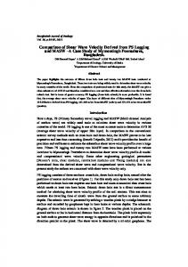 Comparison of Shear Wave Velocity Derived from PS ...