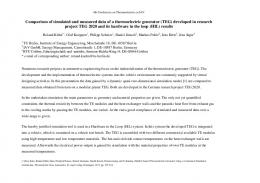 Comparison of simulated and measured data of a ...