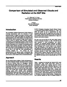 Comparison of Simulated and Observed Clouds and Radiation at the ...