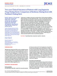 Comparison of Sirolimus-Eluting Stent with Paclit - Journal of Korean ...
