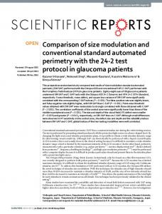 Comparison of size modulation and conventional