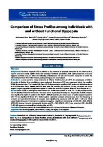 Comparison of Stress Profiles among Individuals with and without ...