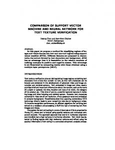 comparison of support vector machine and neural network for text ...