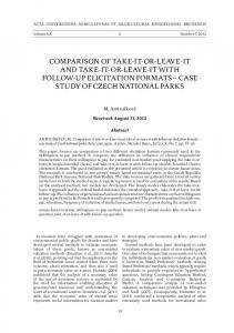 comparison of take-it-or-leave-it and take-it-or-leave-it with follow-up