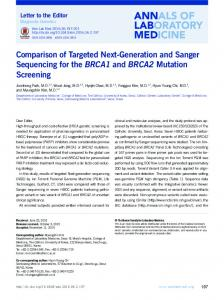 Comparison of Targeted Next-Generation and ... - KoreaMed Synapse
