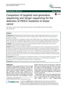 Comparison of targeted next-generation sequencing and Sanger ...