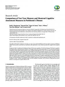 Comparison of Test Your Memory and Montreal Cognitive Assessment ...