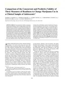 Comparison of the Concurrent and Predictive Validity of Three ...