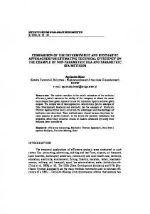 comparison of the deterministic and stochastic ...