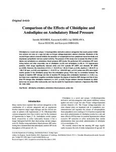 Comparison of the Effects of Cilnidipine and Amlodipine on ... - Nature