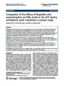Comparison of the effects of ibuprofen and acetaminophen on PGE2 ...