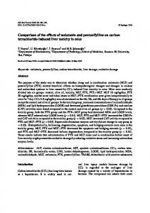 Comparison of the effects of melatonin and pentoxifylline on carbon ...