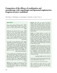 Comparison of the efficacy of combination and monotherapy with