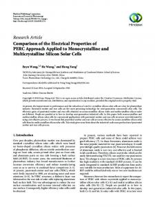 Comparison of the Electrical Properties of PERC Approach Applied to