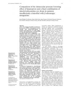 Comparison of the intraocular pressure lowering effect of latanoprost ...