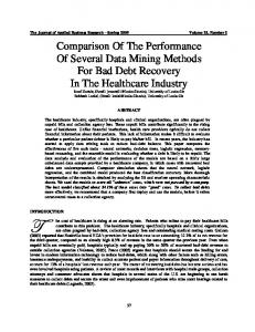 Comparison Of The Performance Of Several Data Mining Methods For ...
