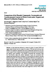 Comparison of the Phenolic Compounds, Carotenoids and