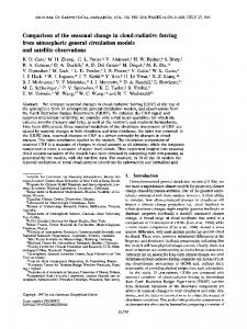 Comparison of the seasonal change in cloud-radiative forcing from