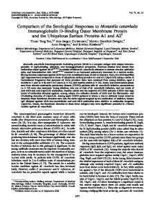 Comparison of the Serological Responses to ... - Infection and Immunity
