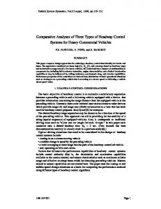 Comparison of Three Control Algorithms on Headway Control for ...