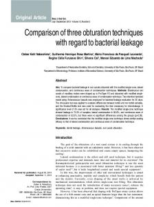 Comparison of three obturation techniques with regard to bacterial ...