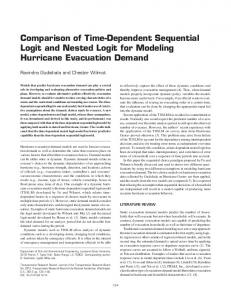 Comparison of Time-Dependent Sequential Logit and Nested Logit for ...