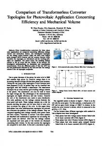Comparison of Transformerless Converter Topologies for Photovoltaic ...