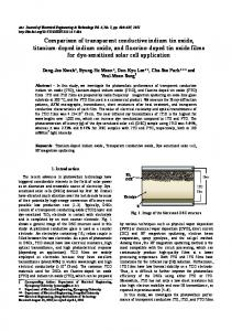 Comparison of transparent conductive indium tin oxide, titanium ... - kisti