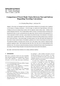 Comparison of Travel Mode Choice Between Taxi and ... - IEEE Xplore
