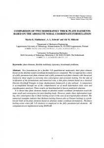 comparison of two moderately thick plate elements based on the
