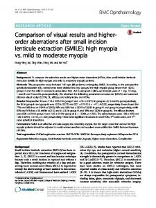 Comparison of visual results and higher-order aberrations after small ...