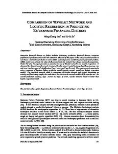 comparison of wavelet network and logistic regression in predicting ...