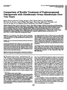 Comparison of Weekly Treatment of Postmenopausal Osteoporosis ...