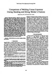 Comparison of Welding Fumes Exposure During Standing and ... - Core