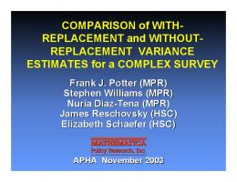 Comparison of With-Replacement and Without ...