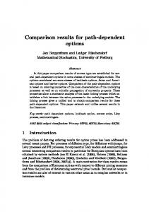 Comparison results for path-dependent options - CiteSeerX