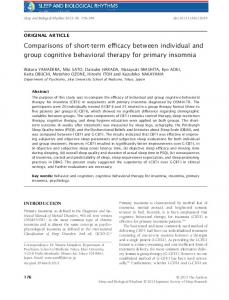 Comparisons of shortterm efficacy between ... - Wiley Online Library
