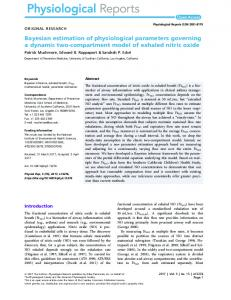 compartment model of exhaled nitric oxide - Wiley Online Library