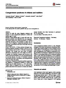 Compartment syndrome in infants and toddlers | SpringerLink